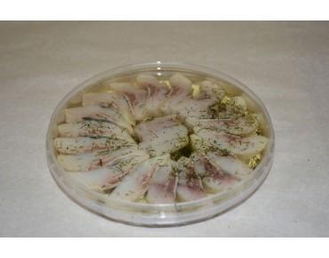 Сельдь филе-кусочки в масле с укропом 200гр.